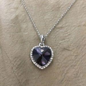 WGP Swarovski Crystal heart pendant necklace